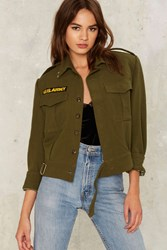 After Party By Nasty Gal Cavalry Military Jacket Green