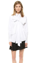 Viktor And Rolf Poplin Bow Blouse White