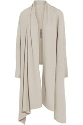 Rick Owens Boiled Cashmere Cardigan Light Gray