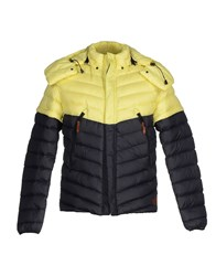 Diadora Heritage Coats And Jackets Down Jackets Men Light Yellow