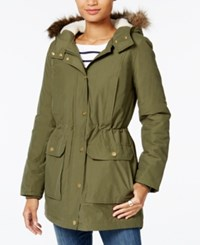 Tommy Hilfiger Faux Fur Trim Hooded Parka Only At Macy's Olive Night