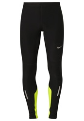 Nike Performance Tech Tights Black Volt Reflective Silver