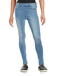 True Religion Runway Washed Elasticized Leggings Blue