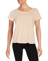 Marc New York Seamed Cotton Blend Tee Apricot