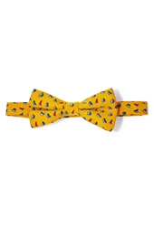 Forever 21 Sailboat Print Bow Tie Yellow Blue