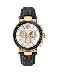Versace Mystique Sport Chronograph Rose Gold Pvd Round Watch 43.5Mm Pink