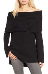 Sun And Shadow Women's Cowl Off The Shoulder Sweater