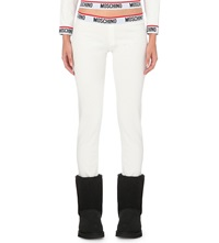 Moschino Ribbed Cotton Leggings 1 White