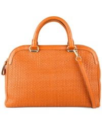 Cole Haan Leesa Weave Double Zip Satchel Acorn