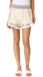 Endless Rose Crochet Shorts Natural