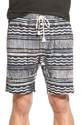 Men's Sol Angeles 'Wave' Print Terry Cutoff Shorts
