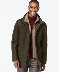 London Fog Big And Tall Classic Car Coat Loden Heather
