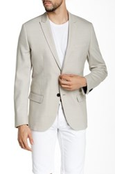 Kenneth Cole Beige Two Button Peaked Lapel Blazer Multi