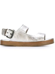 Marsell Marsell Metallic Buckled Sandals Grey