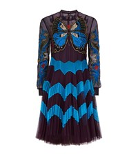 Mary Katrantzou Butterfly Charm Tulle Dress Female Purple