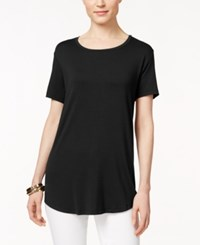 Jm Collection Short Sleeve Tee Only At Macy's Deep Black