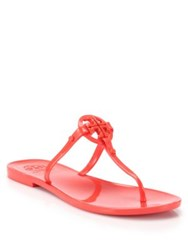 Tory Burch Colori Jelly Thong Sandals Poppy Red Lemon Navy