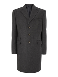 New And Lingwood Pointon Epsom Coat With Peak Lapel Charcoal