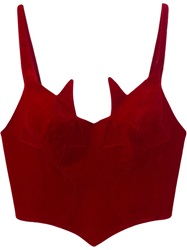 Thierry Mugler Vintage Cropped Bustier Red