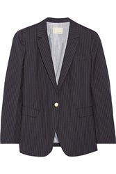 Band Of Outsiders Pinstriped Wool Blazer Blue