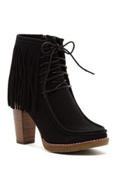 Bucco Maddasyn Faux Fur Lined Lace Up Bootie Black