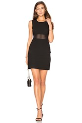 Elizabeth And James Mesh Insert Dress Black