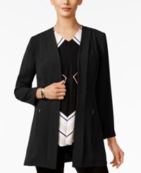 Alfani Open Front Soft Knit Blazer Only At Macy's Deep Black