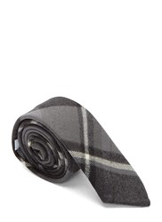 Thom Browne Winter Madras Twill Tie Grey