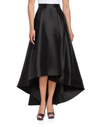 Eliza J Pleated Hi Lo Skirt Black