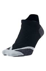 Men's Nike 'Elite' Cushioned No Show Tab Running Socks Black Wolf Grey