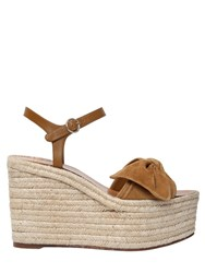 Valentino 110Mm Tropicalsuede And Leather Wedges