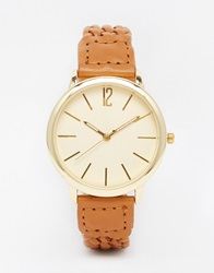 New Look Woven Strap Watch Tan