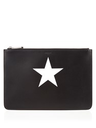Givenchy Iconic Leather Pouch Black White