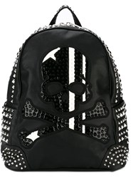 Philipp Plein Skull Studded Backpack Black