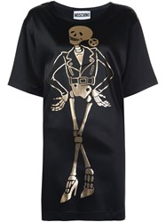 Moschino Skeleton T Shirt Dress Black