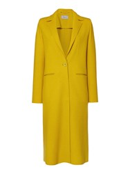 Marella Robert Double Face Wool Longline Coat Yellow