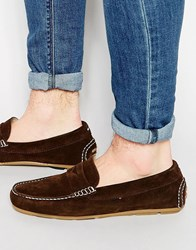 Tommy Hilfiger Suede Alfa Loafers Brown