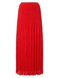 Phase Eight Avery Crinkle Pleat Maxi Skirt Red