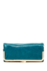 Urban Expressions Sadie Frame Vegan Leather Wallet Blue