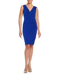 Betsey Johnson Solid Ruched Dress Sapphire