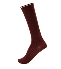 Isabel Marant Zina Silk Blend Socks Red