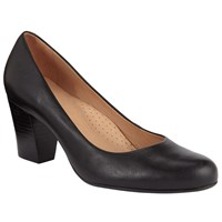 John Lewis Ashlyn Block Heel Court Shoes Black