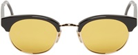 Thom Browne Black And Gold Round Sunglasses