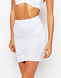 Smooothees Shaping Slip Skirt White Black
