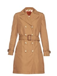 Gucci Double Breasted Lightweight Trench Coat Beige