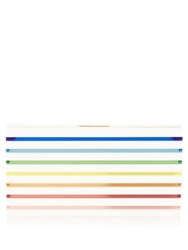 Mary Katrantzou Rainbow Stripes Acrylic Box Clutch White Multi