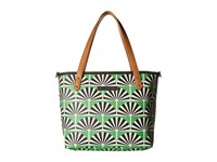 Petunia Pickle Bottom Glazed Downtown Tote Mini Playful Palm Springs Tote Handbags Green