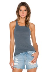 Stateside Ribbed Racerback Tank Gray