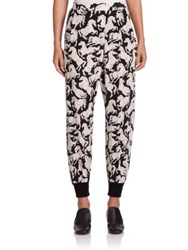 Stella Mccartney Joey Horse Print Silk Harem Pants