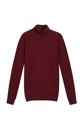 John Smedley Hawley Turtle Neck Sweater Red